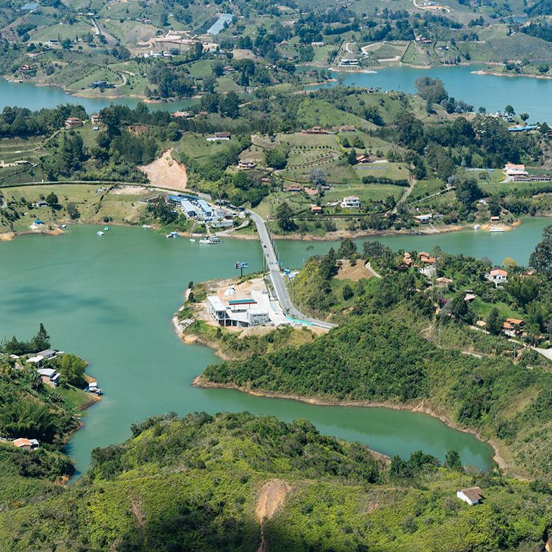 Blick auf Medellin von oben