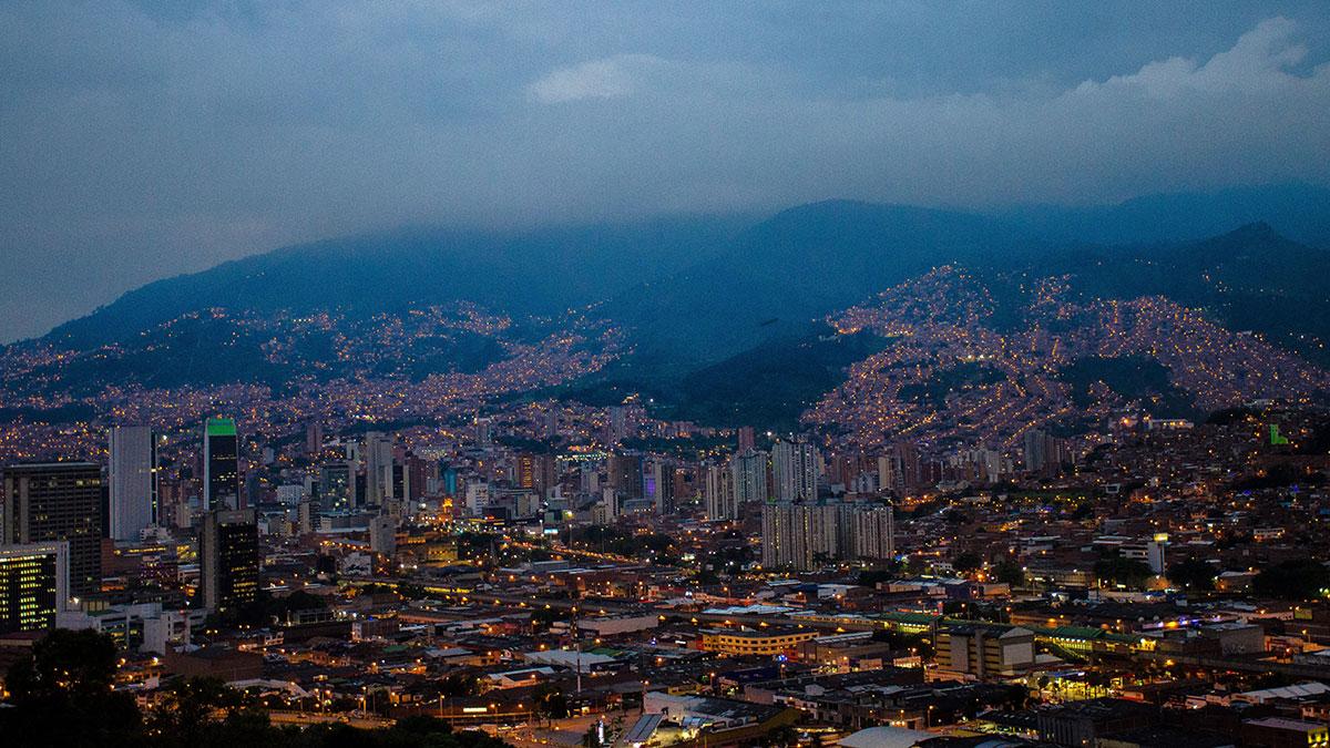 Medellin am Abend